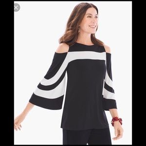 Chicos Travelers Cold Shoulder Top